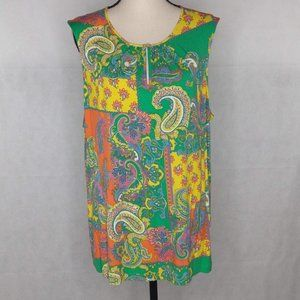 Chaps Top Size 3X Summer Colors NWT